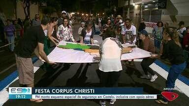 PM monta esquema especial de segurança em Castelo para feriado de Corpus Christi - Preparativos já estão a todo vapor na cidade.