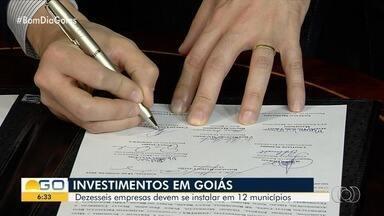 Governo assina protocolo de intenções com 16 empresas que desejam se instalar em Goiás - Segundo administração, investimentos devem ser na ordem de R$ 1,5 bilhão. A previsão é que sejam gerados quase 8 mil novos empregos.