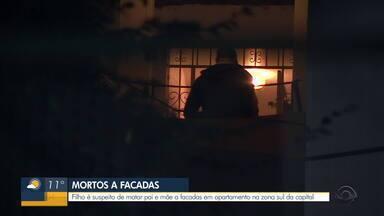 Filho é suspeito de matar pai e mãe a facadas em apartamento em Porto Alegre - Caso aconteceu na Zona Sul da capital, na madrugada desta quinta-feira (19).