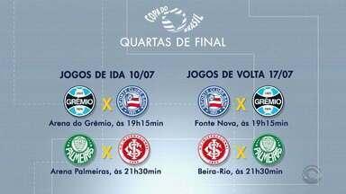 CBF divulga jogos das quartas de final da Copa do Brasil - Confira os jogos da dupla Gre-Nal.