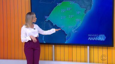 Temperaturas devem chegamos aos 23 °C nesta sexta-feira (21) no RS - Assista ao vídeo.
