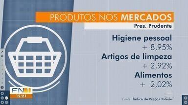 Pesquisa constata aumento de preços nos supermercados em Presidente Prudente - Valor da cesta básica subiu 2,84%.