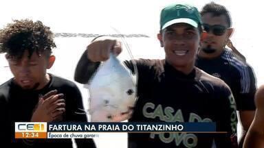 Fartura de peixes na Praia do Titanzinho - Confira mais notícias em g1.globo.com/ce