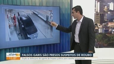 Polícia prende dois homens que se passavam por garis para cometer roubos em Manaus - Polícia prende dois homens que se passavam por garis para cometer roubos em Manaus