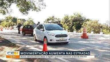 Movimentação aumenta nas estradas no feriado de Corpus Christi - Confira mais notícias em g1.globo.com/ce