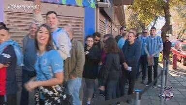 Previsão é que 20 mil uruguaios estejam na Arena nesta quinta-feira (20) - Ingressos são vendidos pela internet.