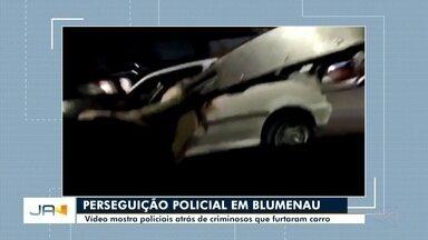 Valther Ostermann comenta sobre a perseguição de criminosos que furtaram carro - Valther Ostermann comenta sobre a perseguição de policiais atrás de criminosos que furtaram carro