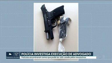 Polícia encontra arma que pode ter sido usada por assassinos de advogado - O advogado foi executado na noite de quarta-feira (19) em um posto de gasolina na Zona Sul.