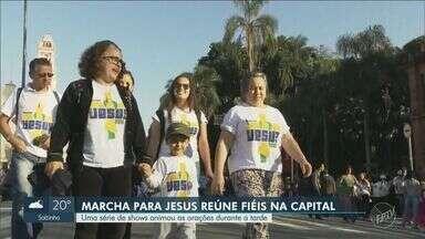 Marcha para Jesus reúne milhares com shows em São Paulo - Evento gospel liderado pela Igreja Renascer em Cristo ocorreu nesta quinta-feira (20).