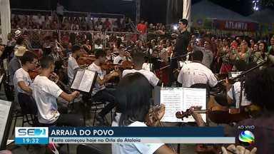 Arraiá do povo começa em Aracaju - O repórter Felipe de Pádua tem mais informações.