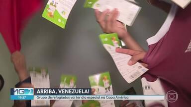Refugiados em BH vibram ao ganhar ingresso para ver jogo da Venezuela no Mineirão - Venezuela e Bolívia jogam neste sábado