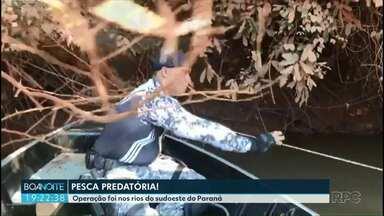 Polícia faz operação nos rios do sudoeste do estado - A operação foi ao longo do rio Santo Antônio, em Capanema, perto da fronteira com a Argentina.