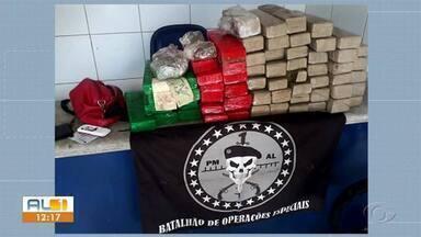 Mais de 60 kg de maconha são apreendidos em Maceió - Uma mulher foi presa com mais de 50kg da droga em uma mala na rodoviária de Maceió.