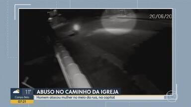 Câmara de segurança flagra ação de suspeito de estupro em Belo Horizonte - Homem foi preso e, segundo a polícia, teria cometido vários outros crimes na mesma região.