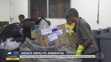 Lixo recolhido após partidas da Copa América ganha destinação correta no Mineirão - Durante os 5 jogos em BH, cerca de 35 toneladas de lixo devem ser produzidas.