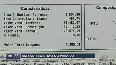 Moradores de condomínios reclamam de cobrança inédita de IPTU em São Sebastião do Paraíso - Moradores de condomínios reclamam de cobrança inédita de IPTU em São Sebastião do Paraíso