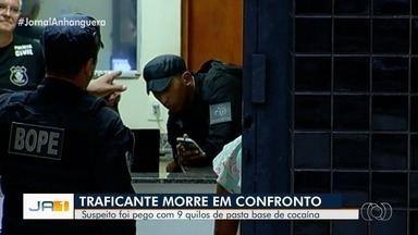 Homem morre em confronto com policiais em Goiânia - De acordo com a polícia, ele é suspeito de tráfico de drogas.