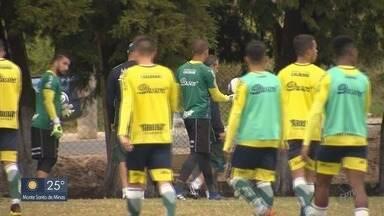 Caldense treina pênaltis antes de jogo decisivo com o Ituano - Caldense treina pênaltis antes de jogo decisivo com o Ituano