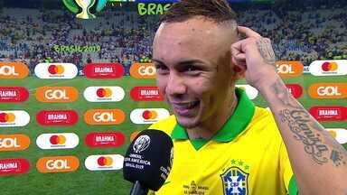 """Destaque da partida, Cebolinha comemora ser titular: """"O importante era competir"""" - Destaque da partida, Cebolinha comemora ser titular: """"O importante era competir"""""""