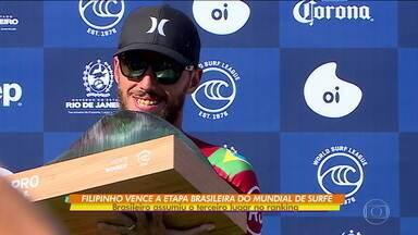 Filipinho Toledo vence etapa brasileira da Liga Mundial de surfe e assume terceiro lugar no ranking geral - Filipinho Toledo vence etapa brasileira da Liga Mundial de surfe e assume terceiro lugar no ranking geral