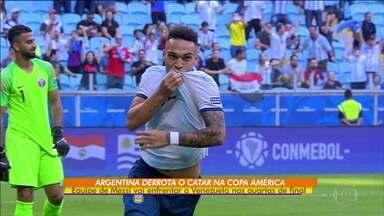 Argentina vence o Catar e vai pegar a Venezuela nas oitavas da Copa América - Argentina vence o Catar e vai pegar a Venezuela nas oitavas da Copa América