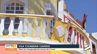 Problemas na estrutura da Vila Cuiabana, que foi construída há menos de 3 anos - Problemas na estrutura da Vila Cuiabana, que foi construída há menos de 3 anos.