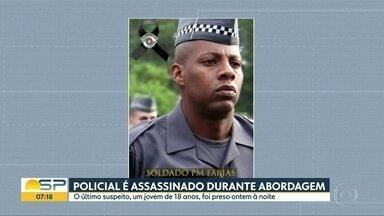 Suspeito da morte de policial é preso - Dos quatro suspeitos, segundo a polícia, ele era o único que ainda estava foragido.