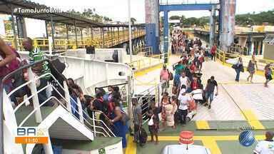 Saiba como está o movimento de retorno do feriadão no sistema ferry boat - Com o fim do feriado prolongado, o fluxo de passageiros teve crescimento.