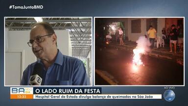 HGE divulga balanço de acidentes com fogos de artifício durante as festas juninas - Foram cerca de 20 casos de queimadura neste São João. O número é maior que o registrado no mesmo período do ano passado.