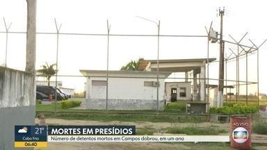 Mortes de detentos por doenças dobrou em Campos - As três unidades da cidade funcionam com mais do que o dobro da capacidade permitida.