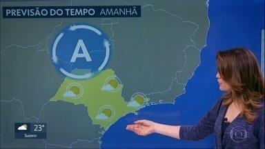 Quinta-feira tem previsão de chuva e temperatura mais amena - Sexta-feira tempo seca e volta a esquentar.