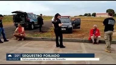 Piloto de avião de Paranaíba forjou o próprio sequestro, afirma polícia de MS - Ele foi preso na quinta-feira (27), assim como o vigia do aeroporto da cidade. Os dois foram levados para Campo Grande.