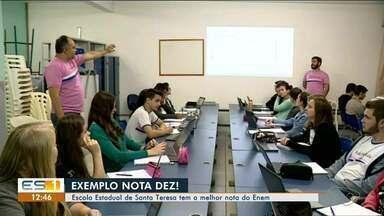 Escola estadual de Santa Teresa, no ES, tem melhor nota do Enem - Pelo segundo ano consecutivo escola ficou na ponta.