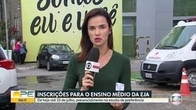 Pernambuco oferece mais de 30 mil vagas para ensino médio da Educação de Jovens e Adultos - Inscrições seguem até o dia 23 de julho.