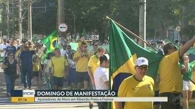 Ribeirão Preto e Franca têm atos em defesa de Sérgio Moro e do governo Bolsonaro - Manifestações ocorreram neste domingo (30).