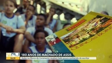 180 anos de Machado de Assis - Aulas no Morro do Livramento revelam lado pouco conhecido do escritor.