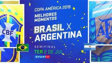 BRA 2 x 0 ARG - Semifinal - MM - Copa América