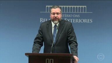 França diz não estar pronta para aprovar acordo comercial entre o Mercosul e UE - O ministro das Relações Exteriores, Ernesto Araújo, comentou a declaração do porta-voz do governo francês.