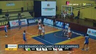 Campinas basquete se reabilita na Liga Nacional - Campinas venceu o São Bernardo do Campo por 52 X 82.