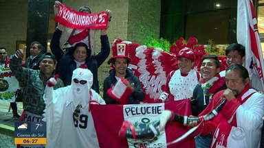 Peruanos invadem Porto Alegre para jogos da Copa América - Assista ao vídeo.