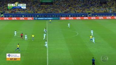 Brasil desclassifica Argentina e avança para a final da Copa América - Seleção verde e amarela venceu por 2 a 0.