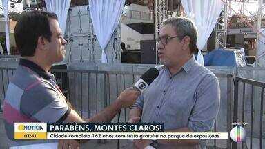 Atrações musicais gratuitas agitam o aniversário de Montes Claros - Festa em comemoração ao 162º aniversário da cidade acontecerá no Parque de Exposições João Alencar Athayde a partir das 10h; banda Calcinha Preta será a atração principal.