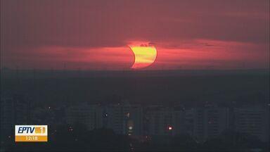 Veja como fica o tempo nesta quarta-feira na região - Na terça-feira foi possível conferir o eclipse solar.