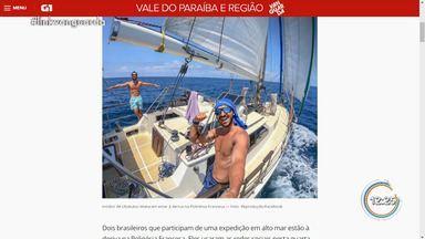 Dois brasileiros a bordo de veleiro estão a deriva no mar na Polinésia Francesa - Irmãos saíram de Ubatuba em março de 2018 para volta ao mundo em embarcação. Pelas redes sociais, eles relataram que sofreram um acidente que destruiu leme da embarcação e estão a deriva.