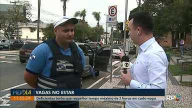 Vagas especiais de estacionamento terão limite de duas horas em Ponta Grossa - O projeto apresentado pelo Executivo será votado na sessão da Câmara de Vereadores nesta quarta-feira (3).
