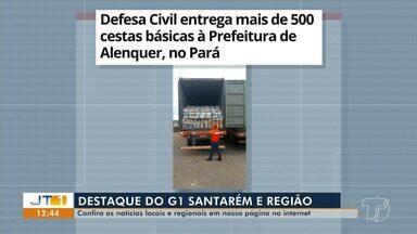 Doação de cestas básicas da Defesa Civil a Prefeitura de Alenquer é destaque no G1 - Confira estas e outras notícias da região oeste do Pará no portal de notícias.