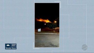 Fábrica é destruída pelo fogo em Aparecida do Taboado - Em Três Lagoas.