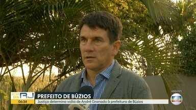 Justiça determina volta do prefeito de Búzios para o cargo - André Granado, do MDB, tinha sido afastado depois de ser condenado por improbidade administrativa