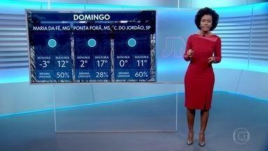 Veja como fica o tempo no domingo (7) - Frio deve continuar em boa parte do país.