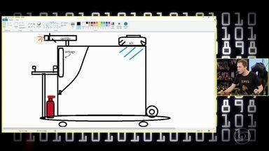 Tiago Leifert desenha protótipo de patinete elétrico ideal - Ele fala sobre as novas regulações para o meio de transporte
